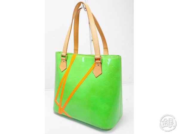 authentic pre-owned louis vuitton vernis fluo limited robert wilson houston tote bag m91934 200183