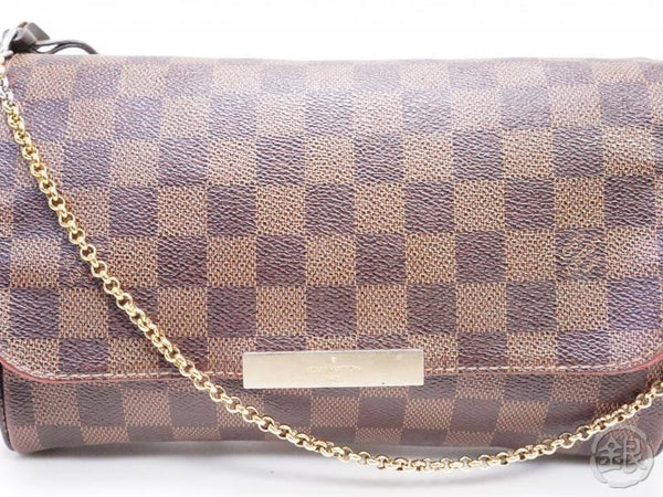 authentic pre-owned louis vuitton LV damier favorite mm crossbody chain pouch 2way bag n41129 200195