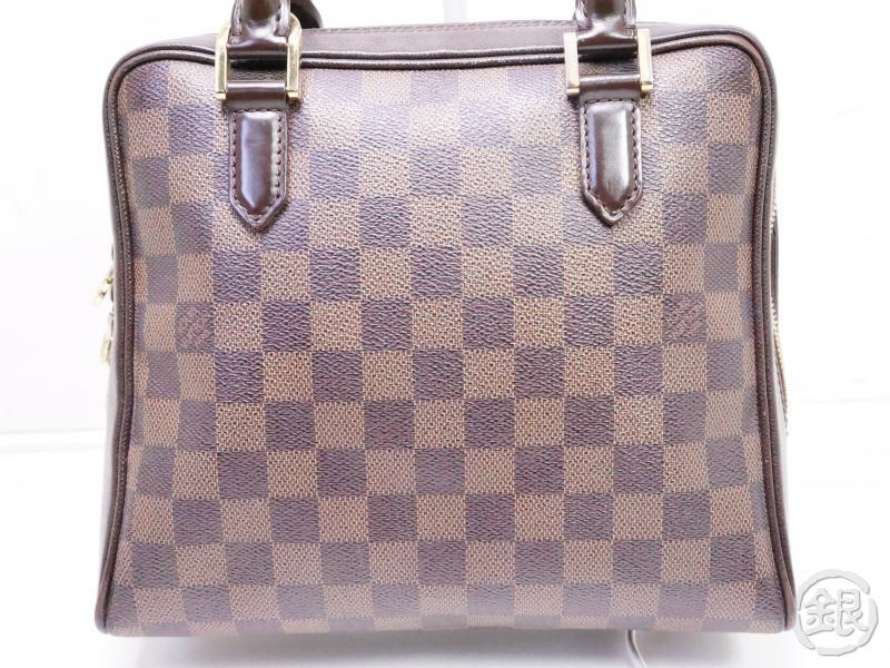authentic pre-owned louis vuitton lv damier ebene brera hand tote bag purse n51150 200221