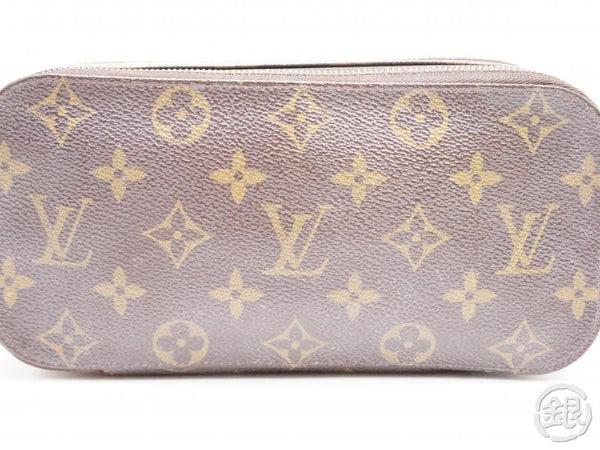 authentic pre-owned louis vuitton lv monogram trousse brush gm cosmetic pouch bag m47505 200180