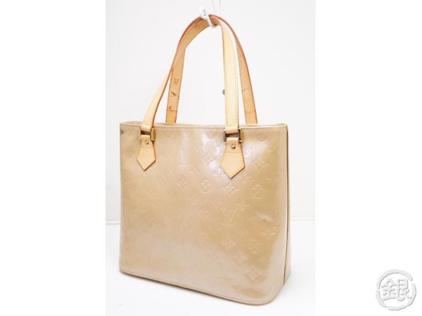 authentic pre-owned louis vuitton lv vernis noisette beige houston shoulder tote bag m91340 20018