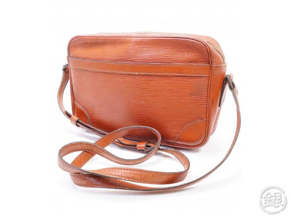authentic pre-owned louis vuitton epi vintage kenyan brown trocadero 24 crossbody bag m52313 200230