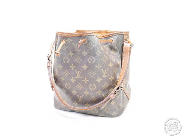 authentic pre-owned louis vuitton vintage monogram petit noe shoulder drawstring bag m42226 200218