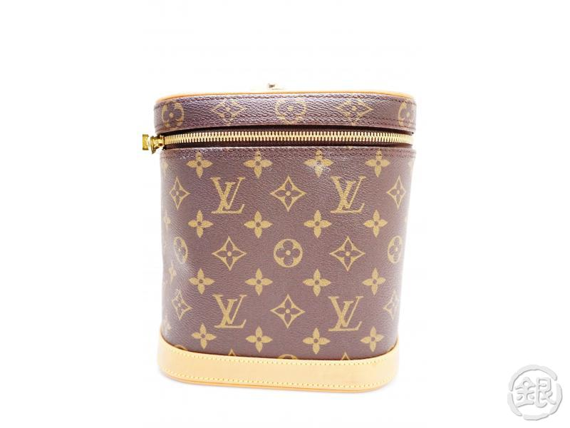 authentic pre-owned louis vuitton monogram nice 2-way cosmetic vanity bag w/ strap m47280 200215