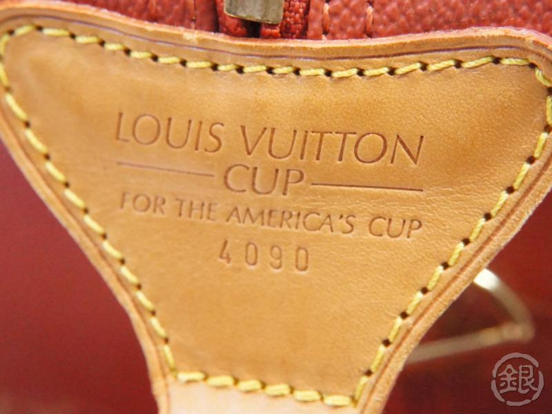 authentic pre-owned louis vuitton limited LV america's cup '95 red cabourg travel bag m80020 200224
