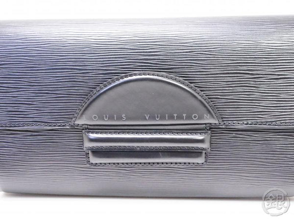 authentic pre-owned louis vuitton epi black noir pochette chaillot evening clutch bag m52542 200212