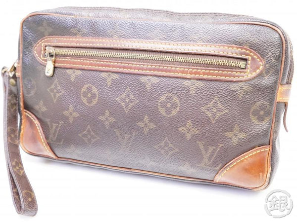 authentic pre-owned louis vuitton monogram pochette marly dragonne gm clutch bag m51825 200213