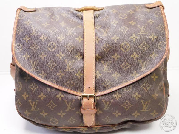 AUTHENTIC PRE-OWNED LOUIS VUITTON LV MONOGRAM SAUMUR 35 MESSENGER CROSSBODY BAG M42254 200202