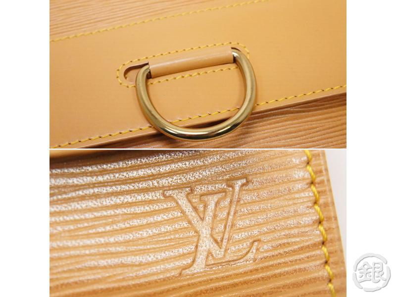 authentic pre-owned louis vuitton epi winnipeg beige pochette iena 28 clutch bag m52726 200251