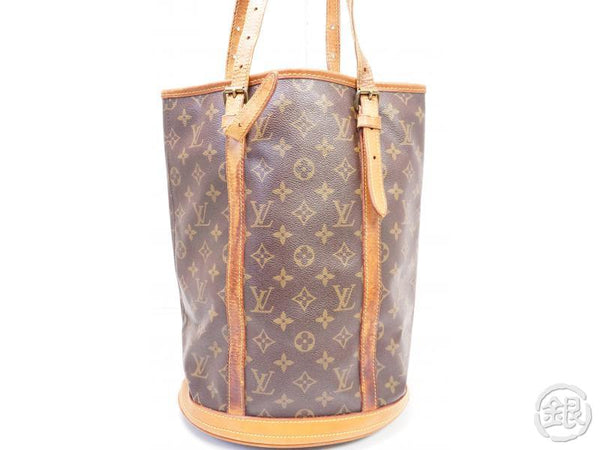 authentic pre-owned louis vuitton lv monogram large bucket gm shoulder tote bag m42236 200258