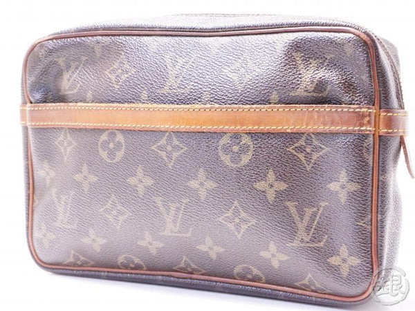 authentic pre-owned louis vuitton monogram pochette compiegne 23 pm pouch clutch bag m51847 200239