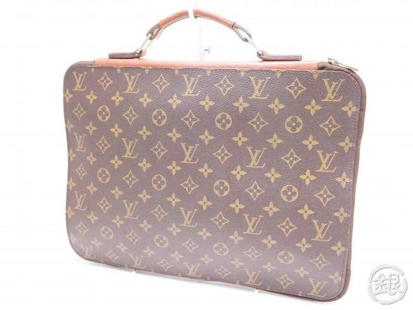 AUTHENTIC PRE-OWNED LOUIS VUITTON MONOGRAM VINTAGE POCHE DOCUMENTS POIGNEE DOCUMENT BAG No.52 200243