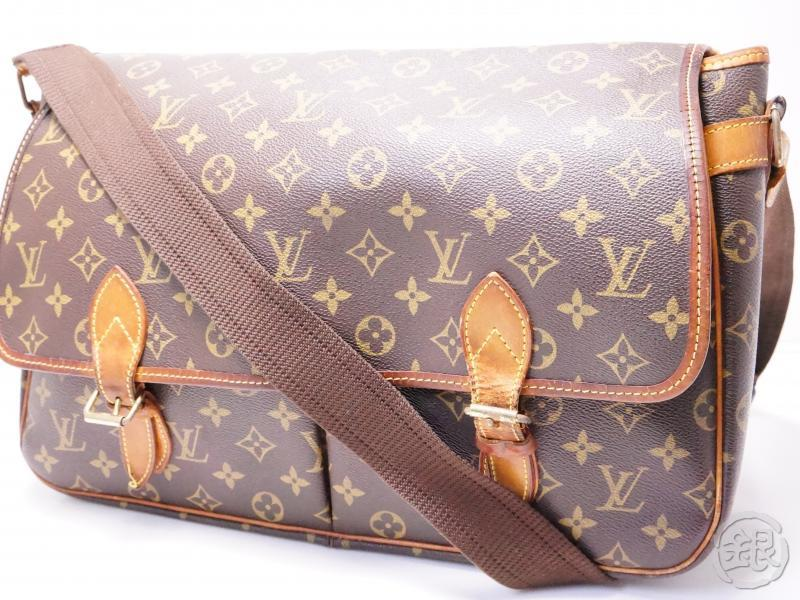 authentic pre-owned louis vuitton lv monogram sac gibeciere gm messenger crossbody bag m42246 200244