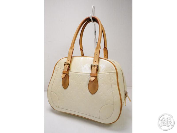authentic pre-owned louis vuitton vernis perle pearl white summit drive hand tote bag m93514 200255