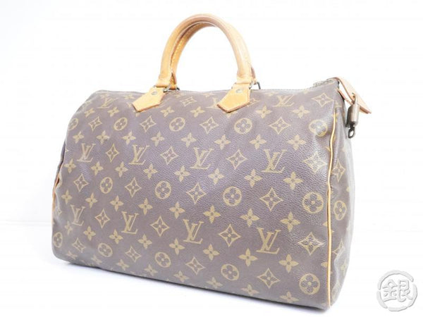 authentic pre-owned louis vuitton vintage monogram speedy 35 duffle bag purse m41524 m41107 200077