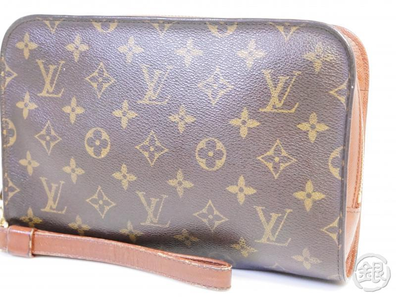 authentic pre-owned louis vuitton monogram pochette orsay clutch bag purse m51790 200250