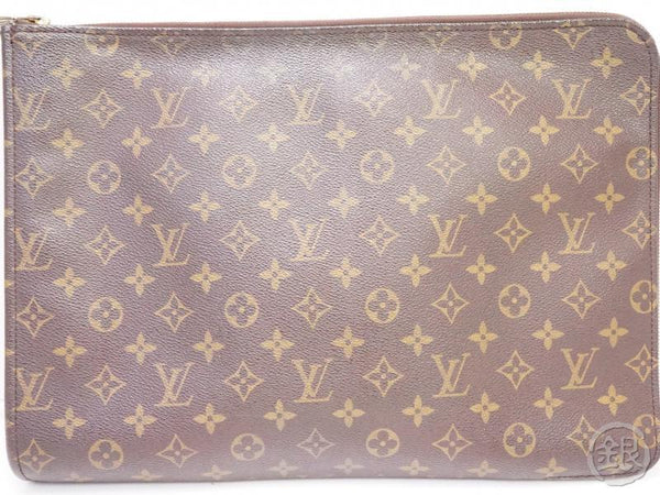authentic pre-owned louis vuitton monogram poche documents portfolio gm case bag m53456 200240
