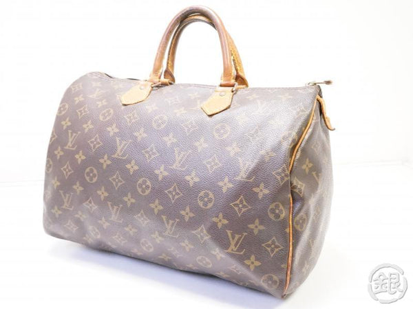 authentic pre-owned louis vuitton vintage monogram speedy 35 duffle bag purse m41524 m41107 200234