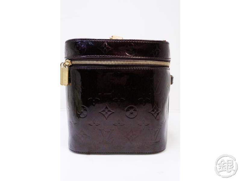 authentic pre-owned louis vuitton special ordered vernis amarante nice cosmetic vanity bag 200236