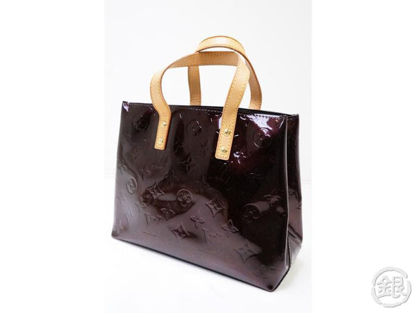authentic pre-owned louis vuitton vernis amarante reade pm hand tote lunch bag purse m91993 200269