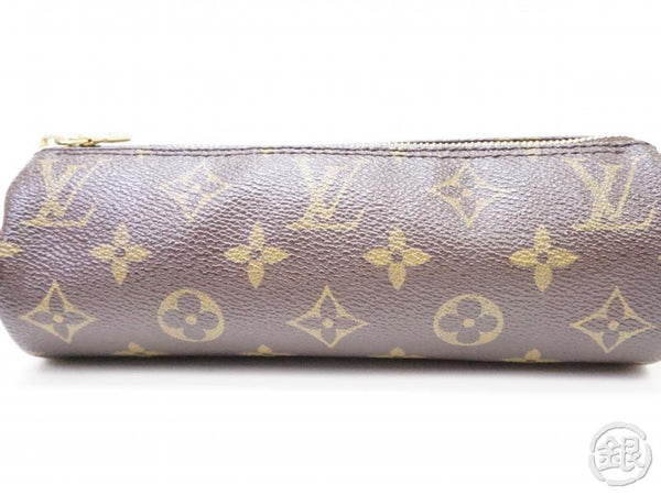 authentic pre-owned louis vuitton monogram trousse ronde pen case cosmetic pouch bag m47626 200272
