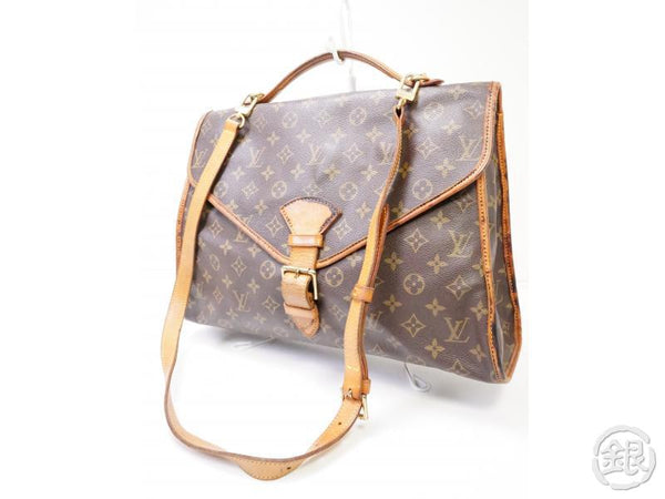 authentic pre-owned louis vuitton monogram beverly briefcase 2-way hand bag long strap m51121 200278