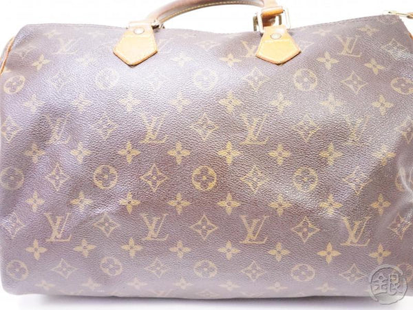 authentic pre-owned louis vuitton vintage monogram speedy 35 duffle bag purse m41524 m41107 200273