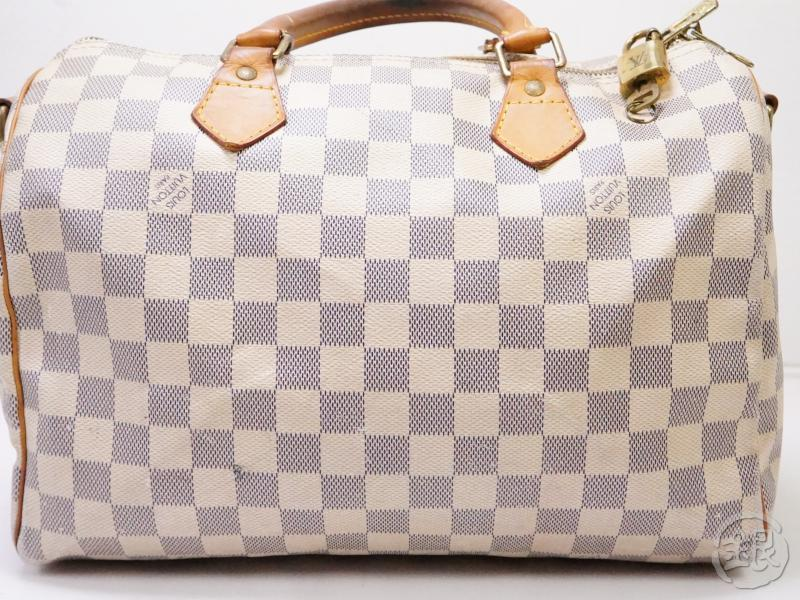 authentic pre-owned louis vuitton damier azur speedy 30 bandouliere 2-way bag n41001 n41373 200274