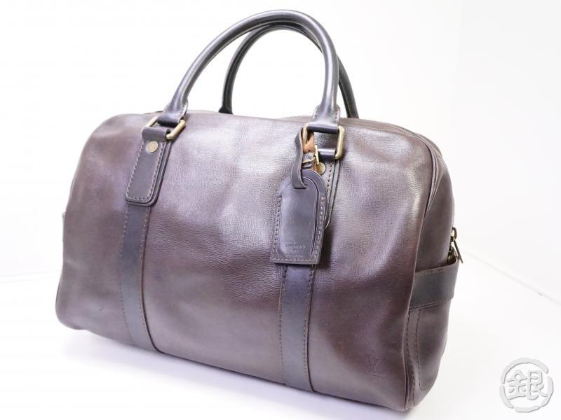 authentic pre-owned louis vuitton utah cafe brown carryall traveling duffle hand bag m92993 200259
