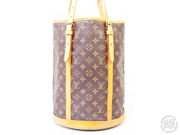 authentic pre-owned louis vuitton monogram large bucket gm shoulder tote bag w/ pouch m42236 200299