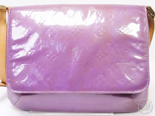 authentic pre-owned louis vuitton vernis violet thompson street shoulder bag m91095 200320