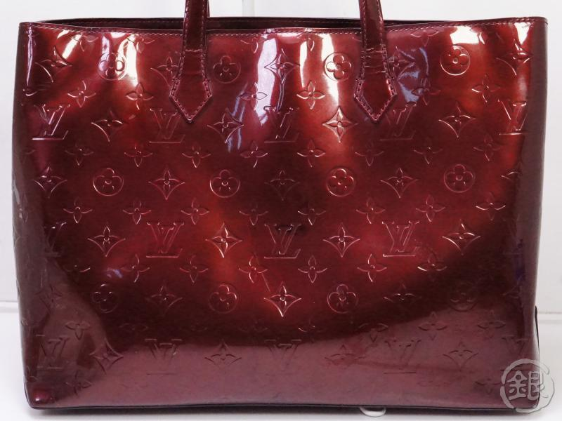 authentic pre-owned louis vuitton vernis rouge fauviste wilshire boulevard mm tote bag m91646 200319