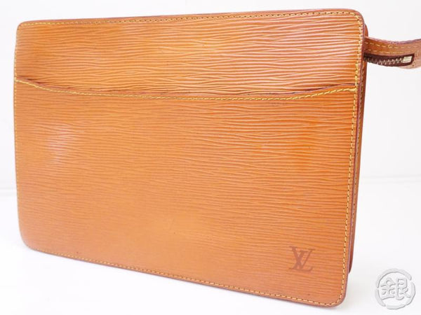 AUTHENTIC PRE-OWNED LOUIS VUITTON EPI GOLD CIPANGO BROWN POCHETTE HOMME CLUTCH BAG M52528 200324