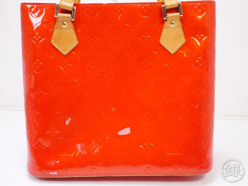 authentic pre-owned louis vuitton vernis rouge red houston shoulder tote bag purse m91092 200355