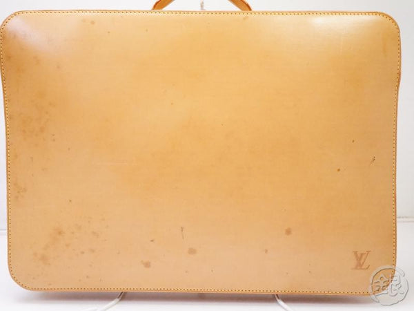 authentic pre-owned louis vuitton limited nomade vachetta leather baltic laptop case m99071 200362