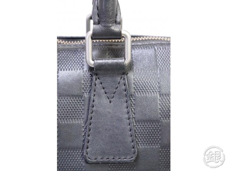 authentic pre-owned louis vuitton lv damier infini onyx pdj porte-documents jour bag n41248 200359