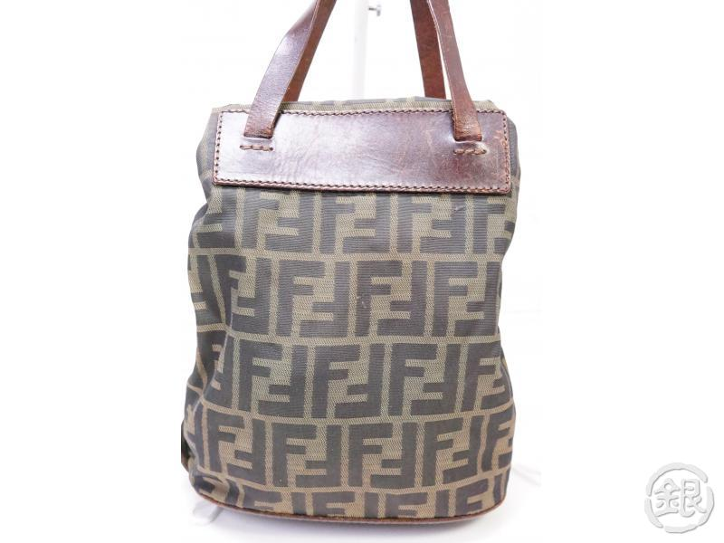 Authentic Pre-owned Fendi Vintage Zucca Pattern Monogram Mini Hand Tote Beige 200378