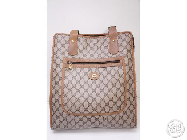 Authentic Pre-owned Gucci Vintage GG Plus Canvas Monogram Shopper Shoulder Tote Beige 200376