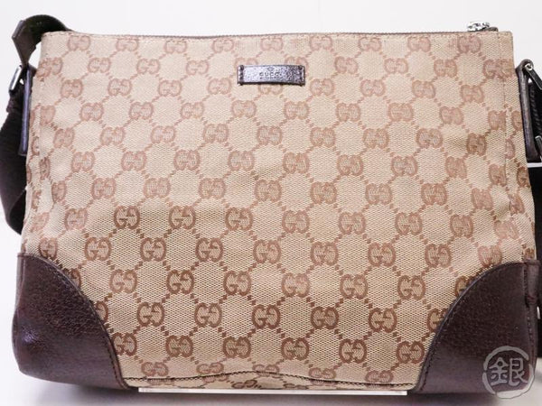 Authentic Pre-owned Gucci Vintage Gucci GG Plus Crossbody Shoulder Bag Beige 200372