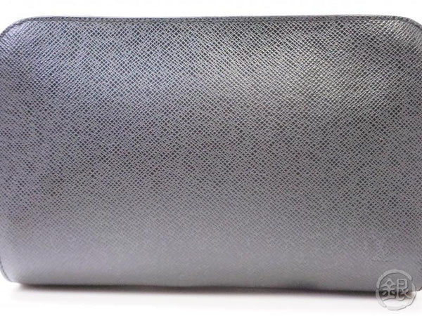 authentic pre-owned louis vuitton taiga black ardoise pochette baikal clutch bag purse m30182 200332