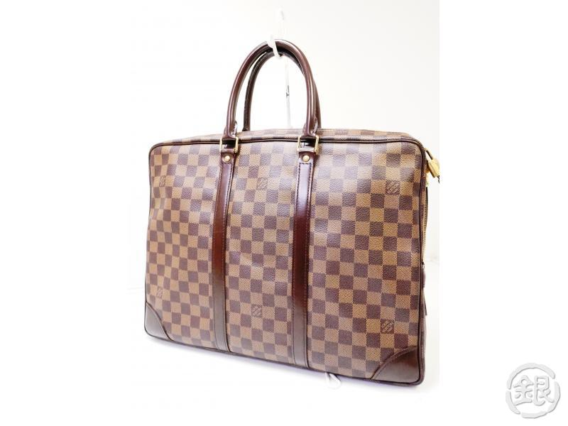 authentic pre-owned louis vuitton damier ebene pdv porte-documents voyage hand bag n41124 200329