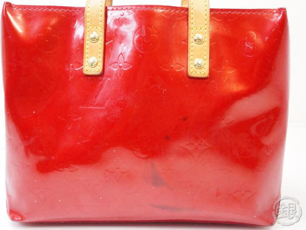 authentic pre-owned louis vuitton vernis pomme d'amour red reade pm hand tote bag m91990 200347