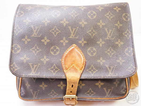 authentic pre-owned louis vuitton monogram cartouchiere gm crossbody messenger bag m51252 200344