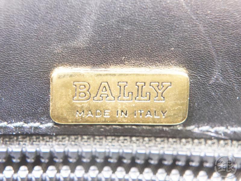 authentic pre-owned bally vintage black leather kelly style hand bag 2-way shoulder bag italy130344