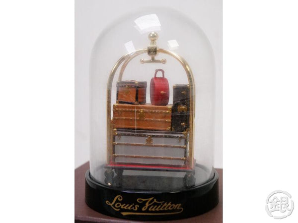 authentic pre-owned louis vuitton vip limited snow globe dome trolley trunk bag chapeau case 193006