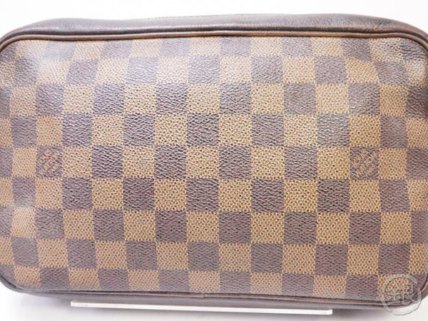authentic pre-owned louis vuitton lv damier trousse toilette cosmetic pouch clutch bag n47623 200349