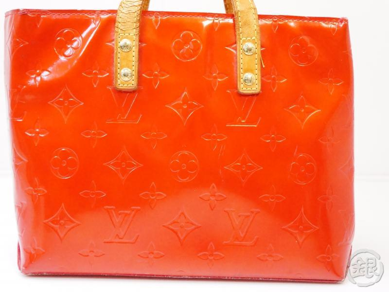 authentic pre-owned louis vuitton lv vernis rouge red reade pm mini hand tote bag m91088 200346