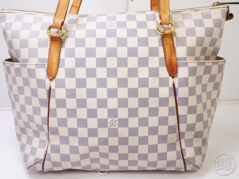 authentic pre-owned louis vuitton damier azur totally mm large shoulder tote bag n51262 200338