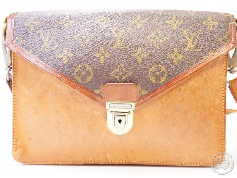 authentic pre-owned louis vuitton vintage monogram sac biface clutch shoulder bag strap no.79 200348