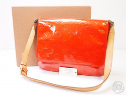 authentic pre-owned louis vuitton vernis rouge thompson street shoulder bag purse m91094 200335